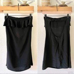 Aaron Ashe Black silk mini dress